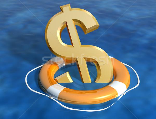 Besparing dollar illustratie zinken business helpen Stockfoto © paulfleet