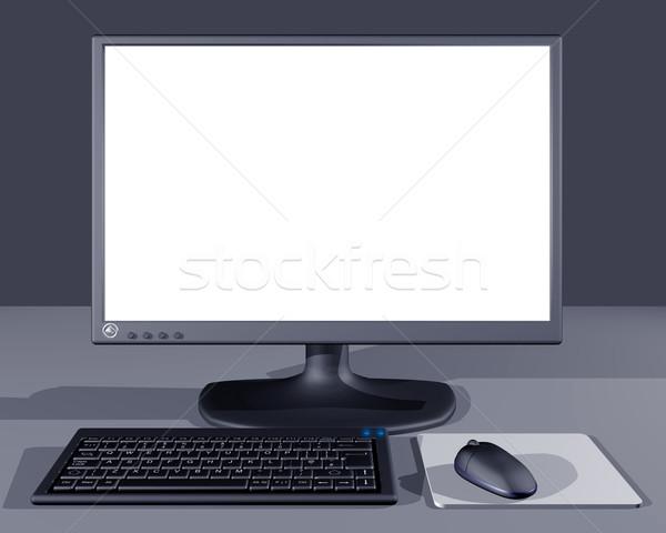 Scherm illustratie business computer home Stockfoto © paulfleet