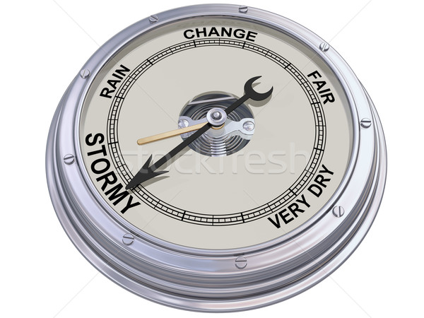 Barometer indicating stormy weather Stock photo © paulfleet