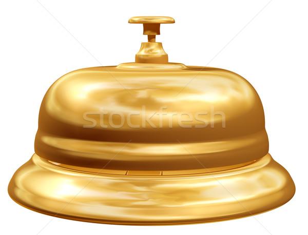 Arany recepció harang izolált illusztráció arany Stock fotó © paulfleet