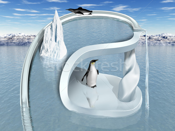 Surreal Penguin Wonderland Stock photo © paulfleet