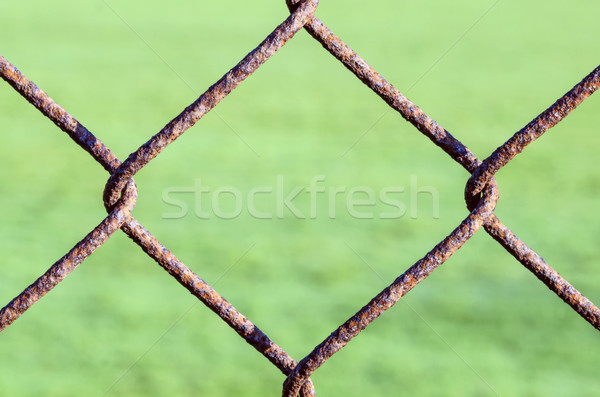 Rusty Chain Link Fence Stock photo © paulfleet