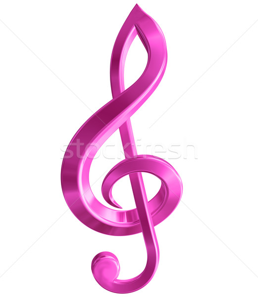 Pink Treble Clef Stock photo © paulfleet