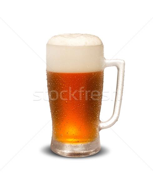 Bögre sör izolált fehér erős üveg Stock fotó © paulovilela