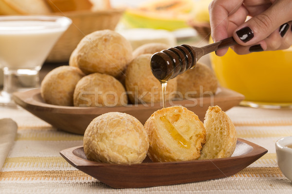 Brazilian cheese buns . Table cafe in the morning with cheese br Stock photo © paulovilela