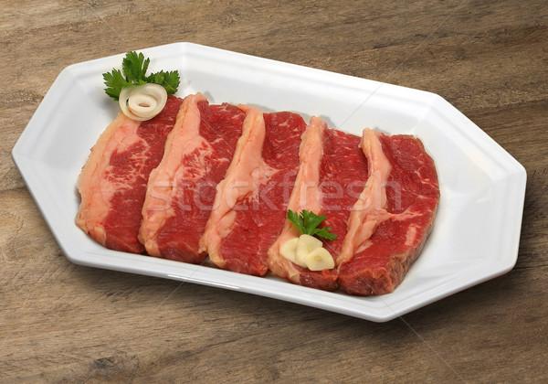Greggio carne legno tagliere mercato alimentare Foto d'archivio © paulovilela