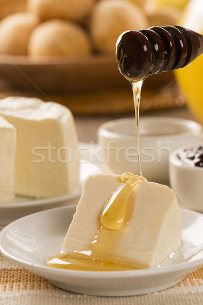 Brazilian sheep cheese. Fruits and different types of cheese in  Stock photo © paulovilela