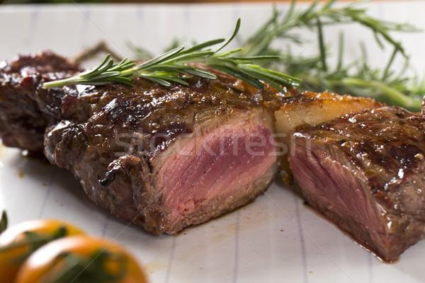 Steak roast on board Stock photo © paulovilela