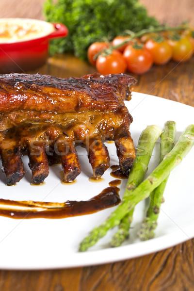 Smakelijk gegrild groenten boord gezondheid Stockfoto © paulovilela