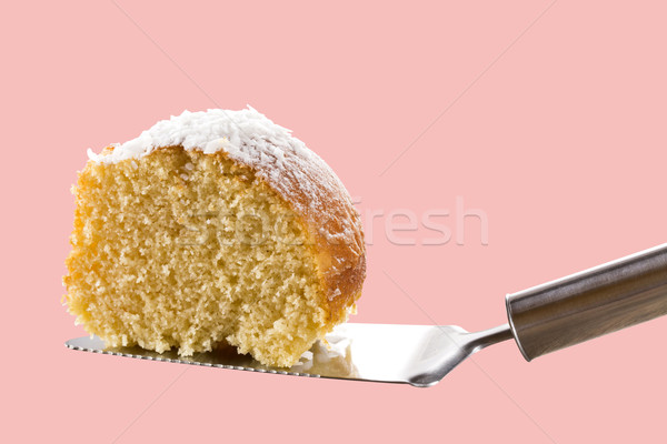 Fatia laranja bolo branco chocolate sobremesa Foto stock © paulovilela