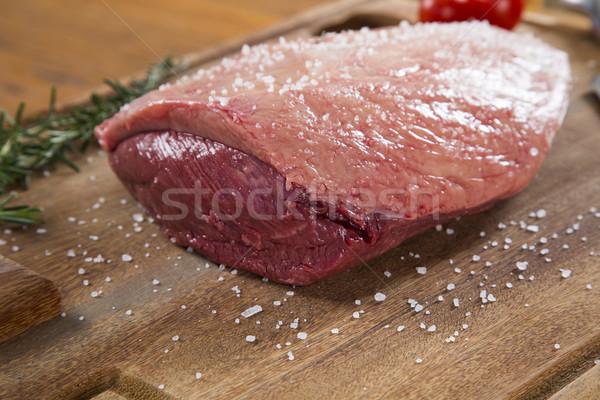 Foto stock: Bife · tomates · comida · cozinha