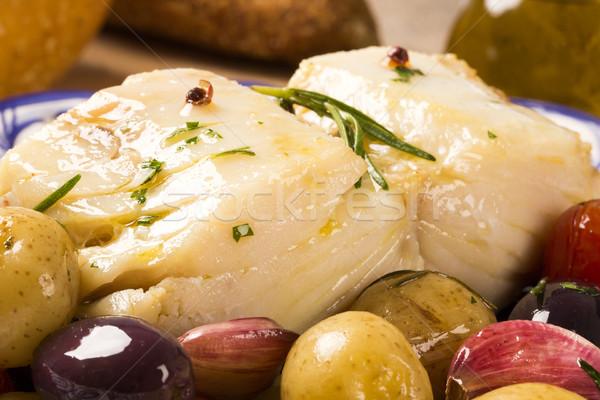 Tipikus edény eredeti tányér hal előkészített Stock fotó © paulovilela