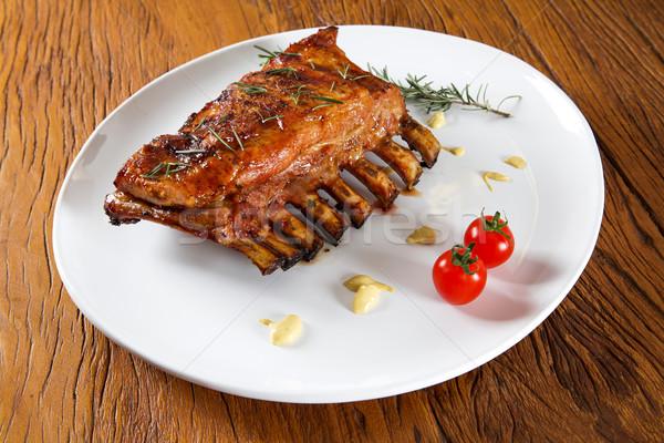 おいしい 焼き リブ 野菜 ボード 健康 ストックフォト © paulovilela