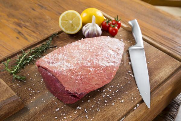 Greggio bistecca pomodoro alimentare bianco Foto d'archivio © paulovilela