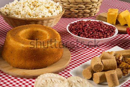 Traditional brazilian Fuba cake.  Stock photo © paulovilela