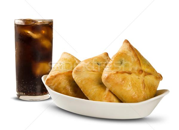 Vlees witte cola ontbijt voedsel citroen Stockfoto © paulovilela