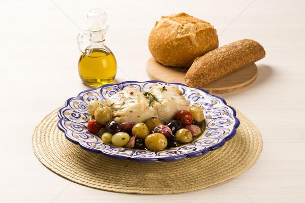A typical Portuguese dish with codfish called Bacalhau do Porto  Stock photo © paulovilela