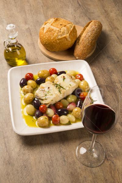 Tipico piatto originale alimentare ristorante cottura Foto d'archivio © paulovilela