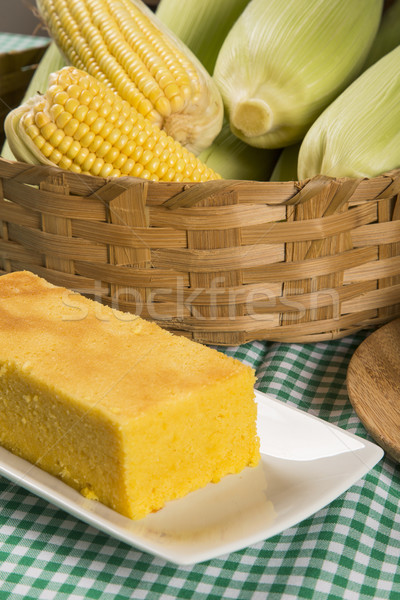 Traditional brazilian Fuba cake.  Stock photo © paulovilela