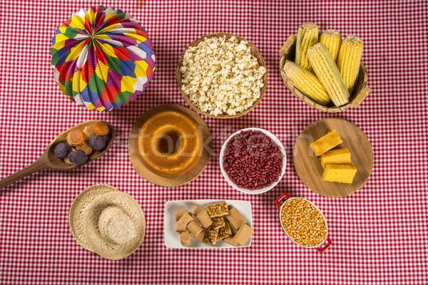 Table of brazilian festa junina Stock photo © paulovilela