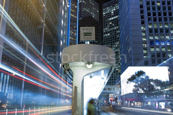 Hong Kong nacht auto parcours donkere hoog Stockfoto © paulwongkwan