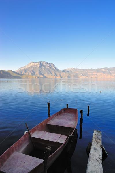 Lugu Lake in Yunnan Stock photo © paulwongkwan
