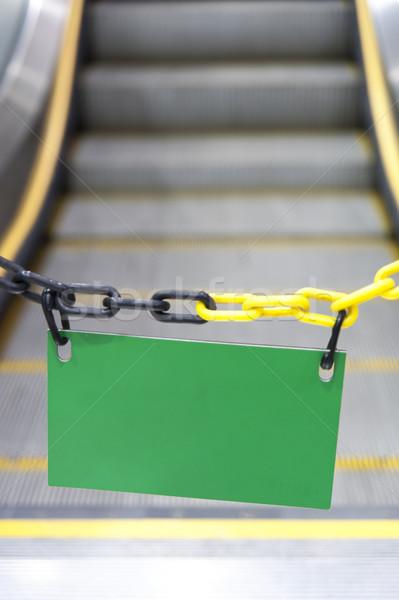 Lege billboard roltrap stoppen kantoor textuur Stockfoto © paulwongkwan