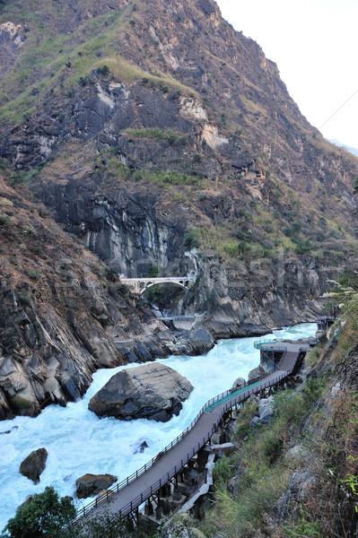 Tigre canyon Cina acqua natura viaggio Foto d'archivio © paulwongkwan