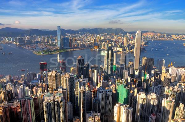 Haven Hong Kong shot business kantoor stad Stockfoto © paulwongkwan
