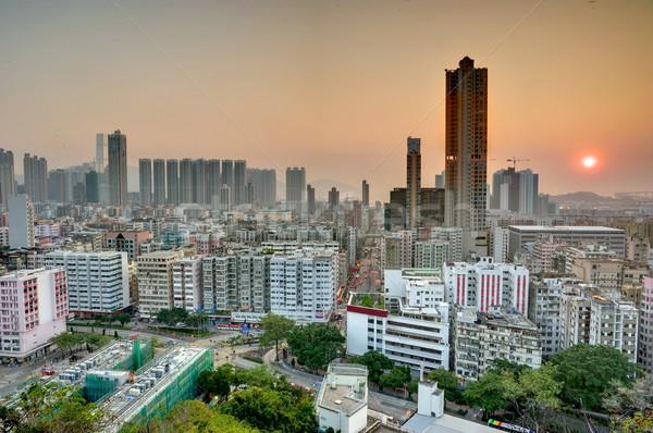 Downtown of Hong Kong Stock photo © paulwongkwan