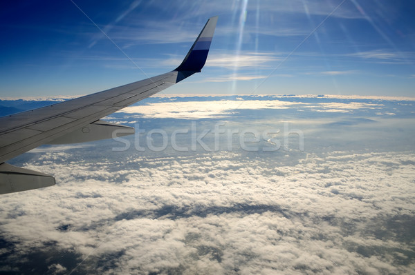 View from Airplane Stock photo © paulwongkwan