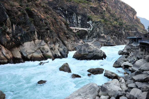 Tigre desfiladeiro China água natureza viajar Foto stock © paulwongkwan