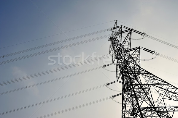 Power tower Stock photo © paulwongkwan