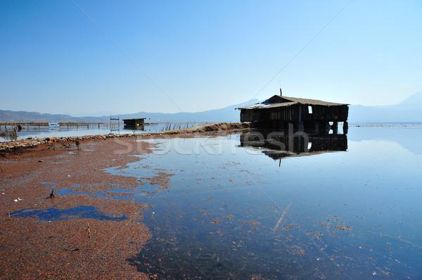 Over LaShiHai a lake Stock photo © paulwongkwan