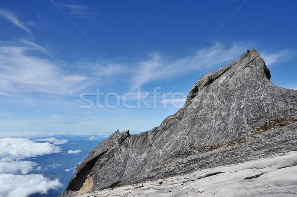 Top hemel achtergrond berg reizen rock Stockfoto © paulwongkwan