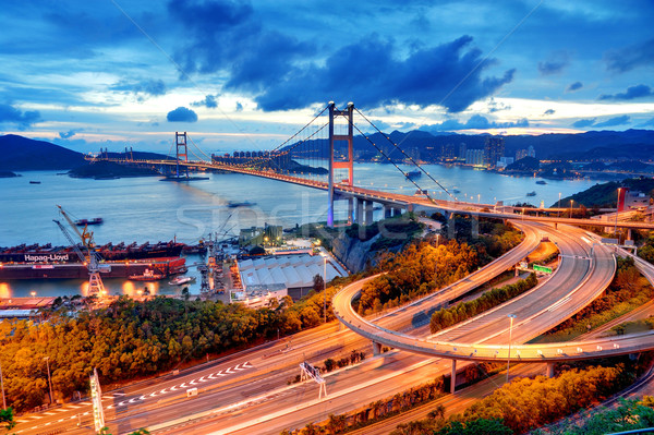 Tsing Ma Bridge Stock photo © paulwongkwan