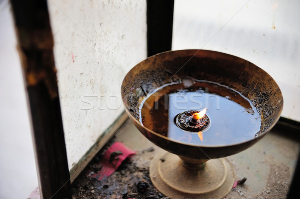 Chinese oil candle Stock photo © paulwongkwan