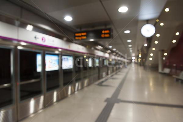 Blur metro Hong Kong stad abstract trein Stockfoto © paulwongkwan