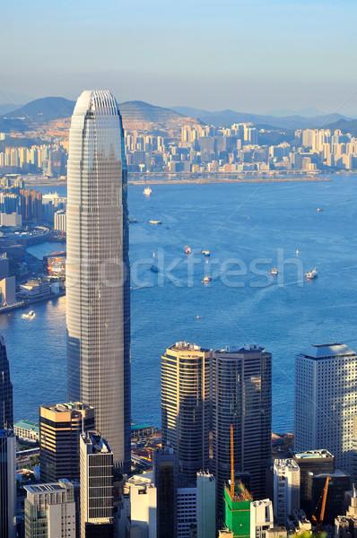 Haven Hong Kong shot business kantoor gebouw Stockfoto © paulwongkwan