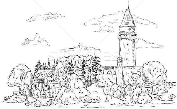 Castle Stramberk  Stock photo © pavelmidi