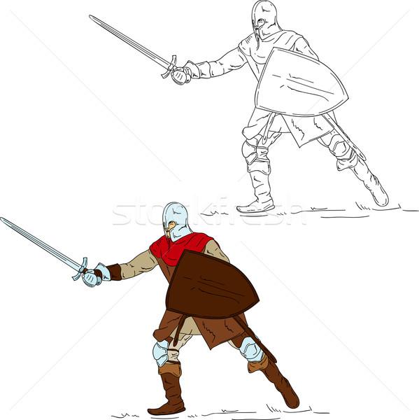 knight with sword Stock photo © pavelmidi