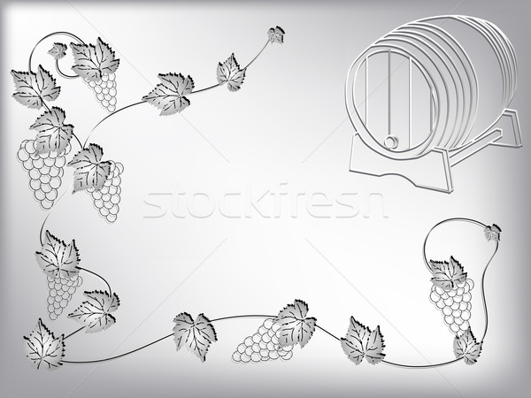 Vinho vetor abstrato comida folha silhueta Foto stock © pavelmidi