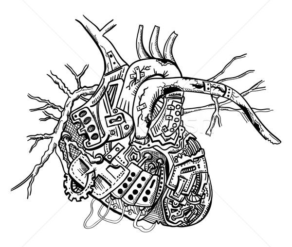 mechanical heart Stock photo © pavelmidi