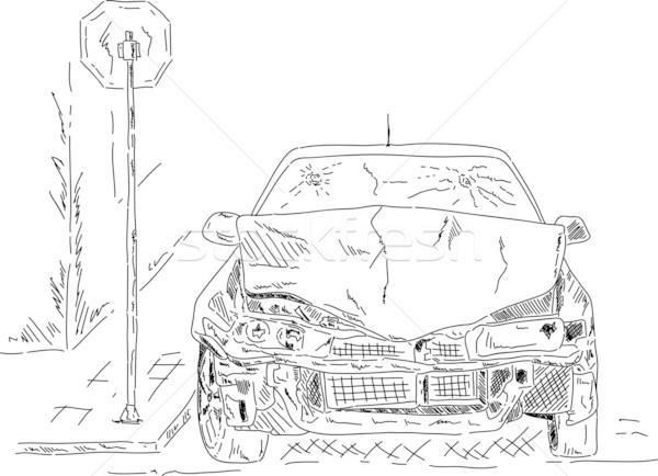 wrecked car Stock photo © pavelmidi