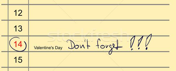 Vetor calendário azul caneta flor abstrato Foto stock © pavelmidi