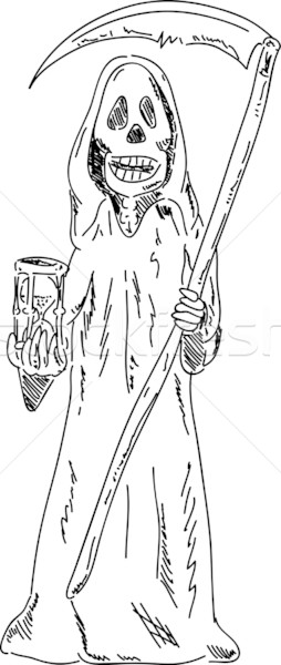 Grim Reaper with sandglass Stock photo © pavelmidi