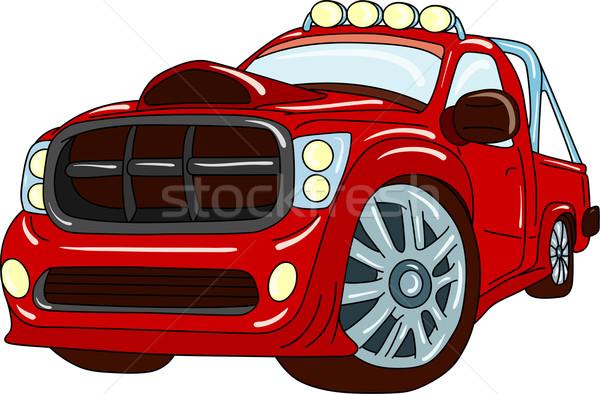 Carro vetor desenho animado como para cima afinação Foto stock © pavelmidi