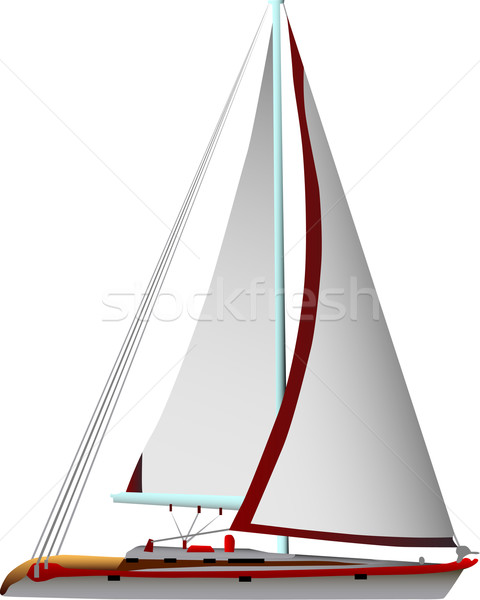 sailing boat Stock photo © pavelmidi