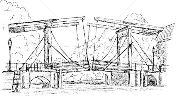 magere brug Stock photo © pavelmidi