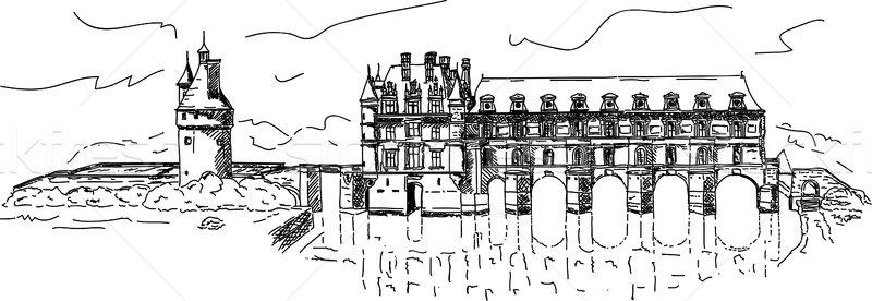 castle Chenonceau Stock photo © pavelmidi